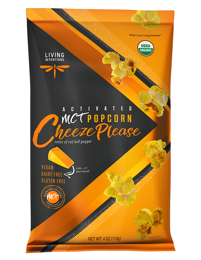 Activated MCT Cheeze Please Popcorn, 4oz