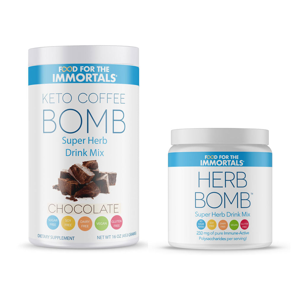 NEW! Keto Coffee Bomb + Herb Bomb, 2 Pack