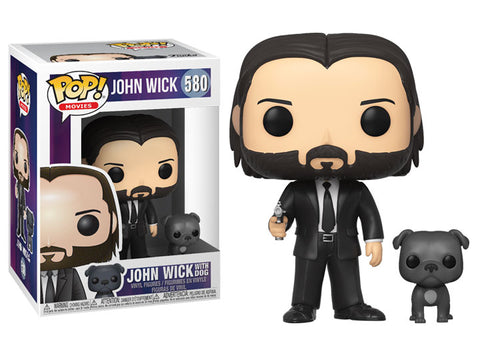 FUNKO POP & BUDDY: John Wick - John (Black Suit) w/ Dog (Vinyl Figure)