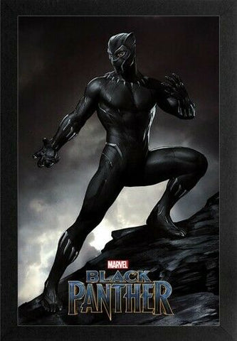 Black Panther Mountain Top 11x17 Framed Gel Coat Print