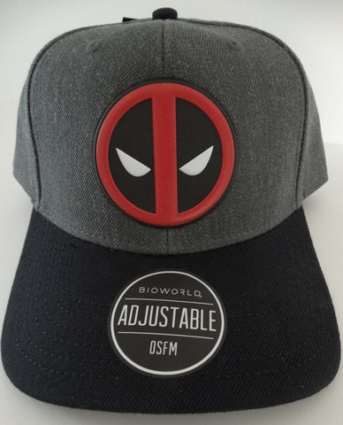 Marvel Deadpool Logo Curved Black Snapback Baseball Cap Ltd Edition