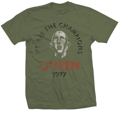 Queen We Are The Champions 1977 Distressed Green Unisex