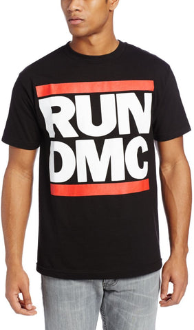 Run D.M.C. Logo Black Unisex Short Sleeve T-shirt (Small)