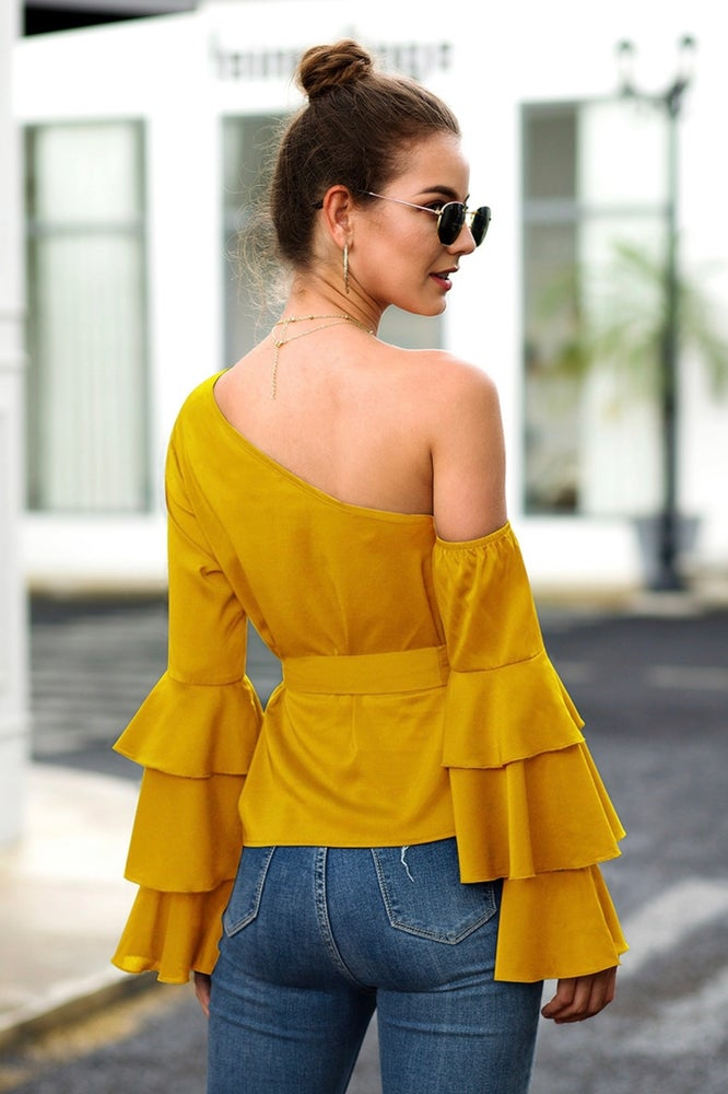 Let's Party Ruffled Shirt (Yellow)