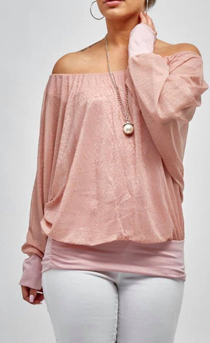 Light Pink Necklace Top