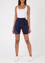Load image into Gallery viewer, Navy Tie Dye Cycling Shorts