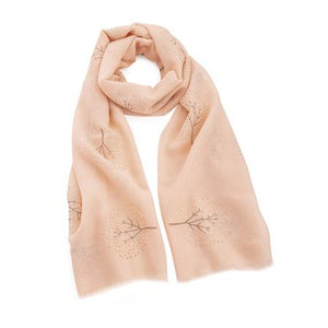 Peach and Rose Gold Glitter Tree of Life Scarf