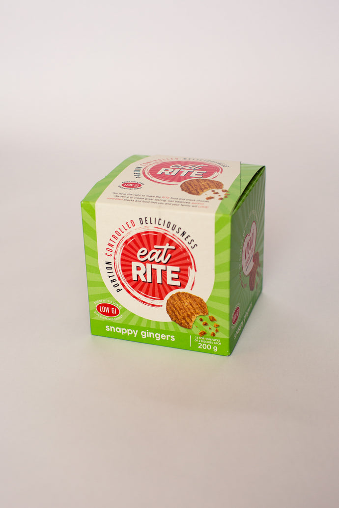 Eatrite - Snappy Ginger Biscuits (LOW GI) 200g Ambient