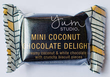 Load image into Gallery viewer, Mini Delights Chocolate Bar - Coconut 15g Ambient