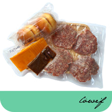 Load image into Gallery viewer, Smoked Beef Patty Burger Package (frozen & chilled items)