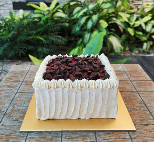Coconut Chocolate Cherry Cake (5
