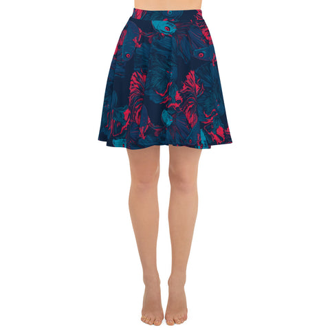 Beta Fish Skater Skirt (6610664128686)