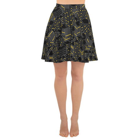 City Lights Skater Skirt (6610675630254)