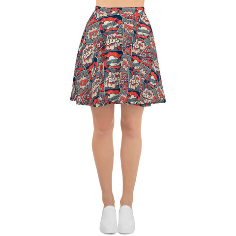 Classic Comic Book Skirt (4413482762322)
