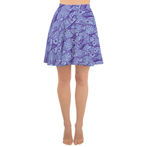 School of Fish Skater Skirt (4780683755602)