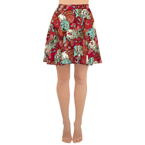 Graffiti Monsters Skirt (4562082922578)