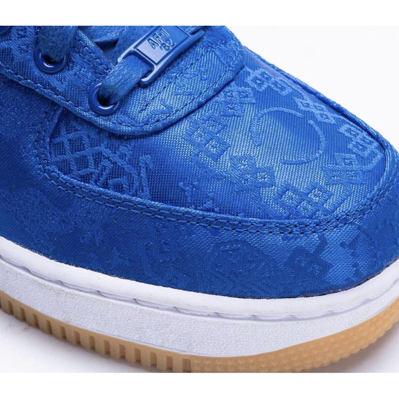 CLOT X Nike Airforce 1 Blue Silk