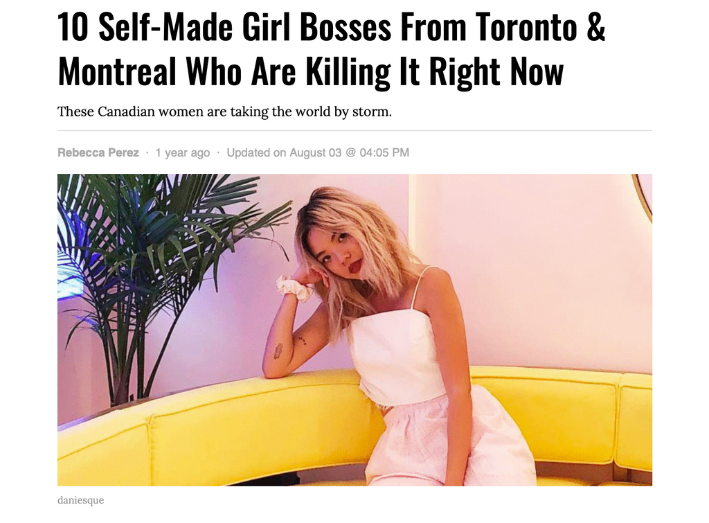 NARCITY: 10 SELF-MADE GIRL BOSSES FROM TORONTO & MONTREAL KILLING IT RIGHT NOW