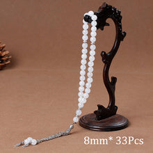 Load image into Gallery viewer, Tasbih Prayer beads - 33 Natural Stone Agates Tassel