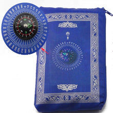 Load image into Gallery viewer, Portable Muslim Prayer Rug™️ with Pouch & Compass