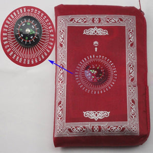 Portable Muslim Prayer Rug™️ with Pouch & Compass