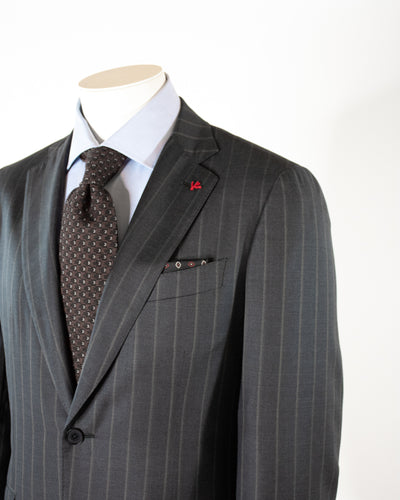 ISAIA Aquaspider 160'S Stripe Suit