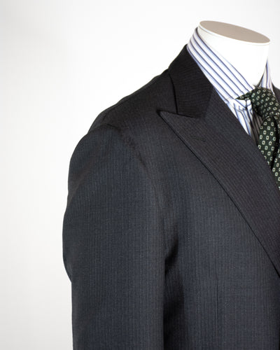 CORNELIANI Double Breasted Charcoal Suit
