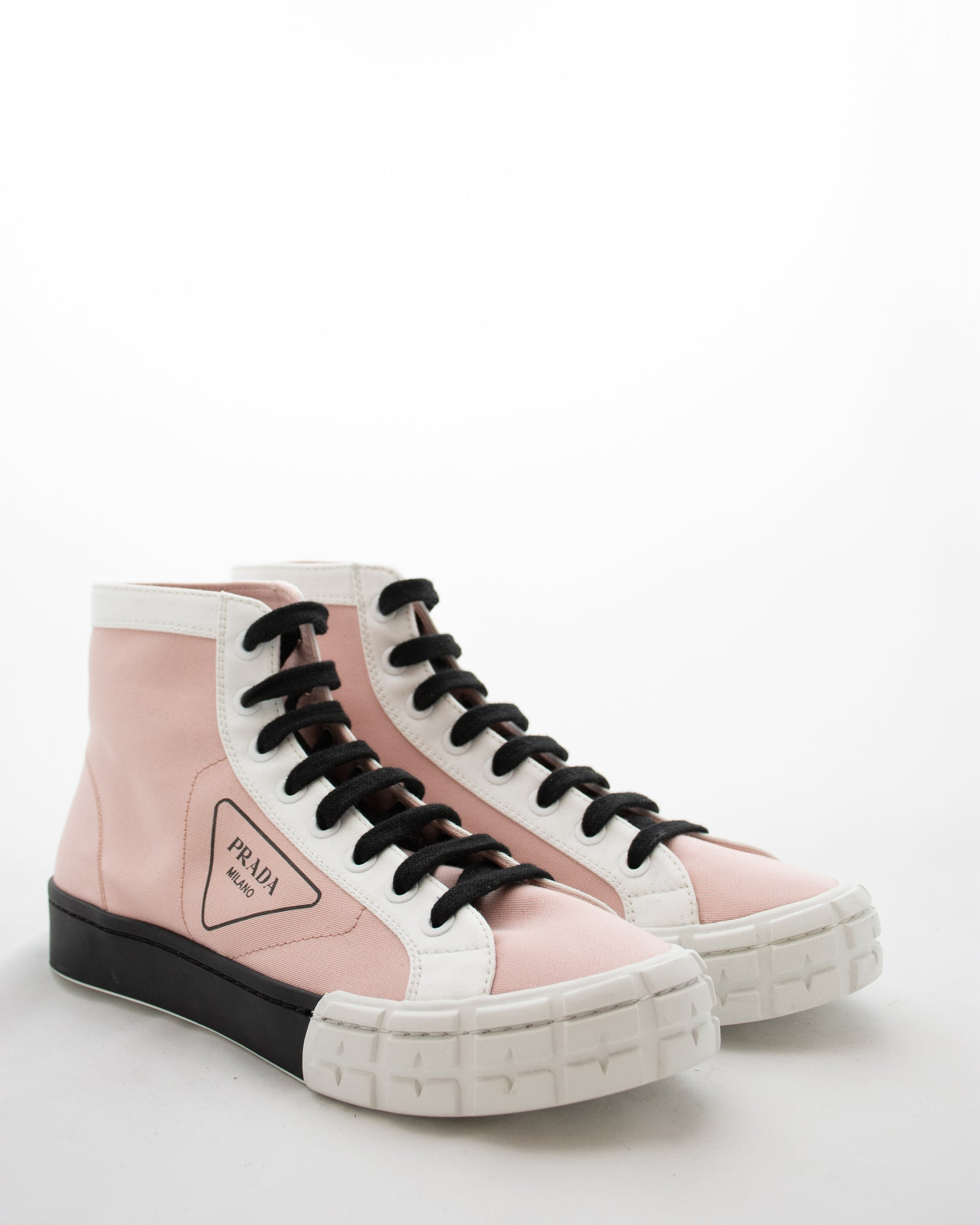 PRADA Cassetta High Top Sneakers