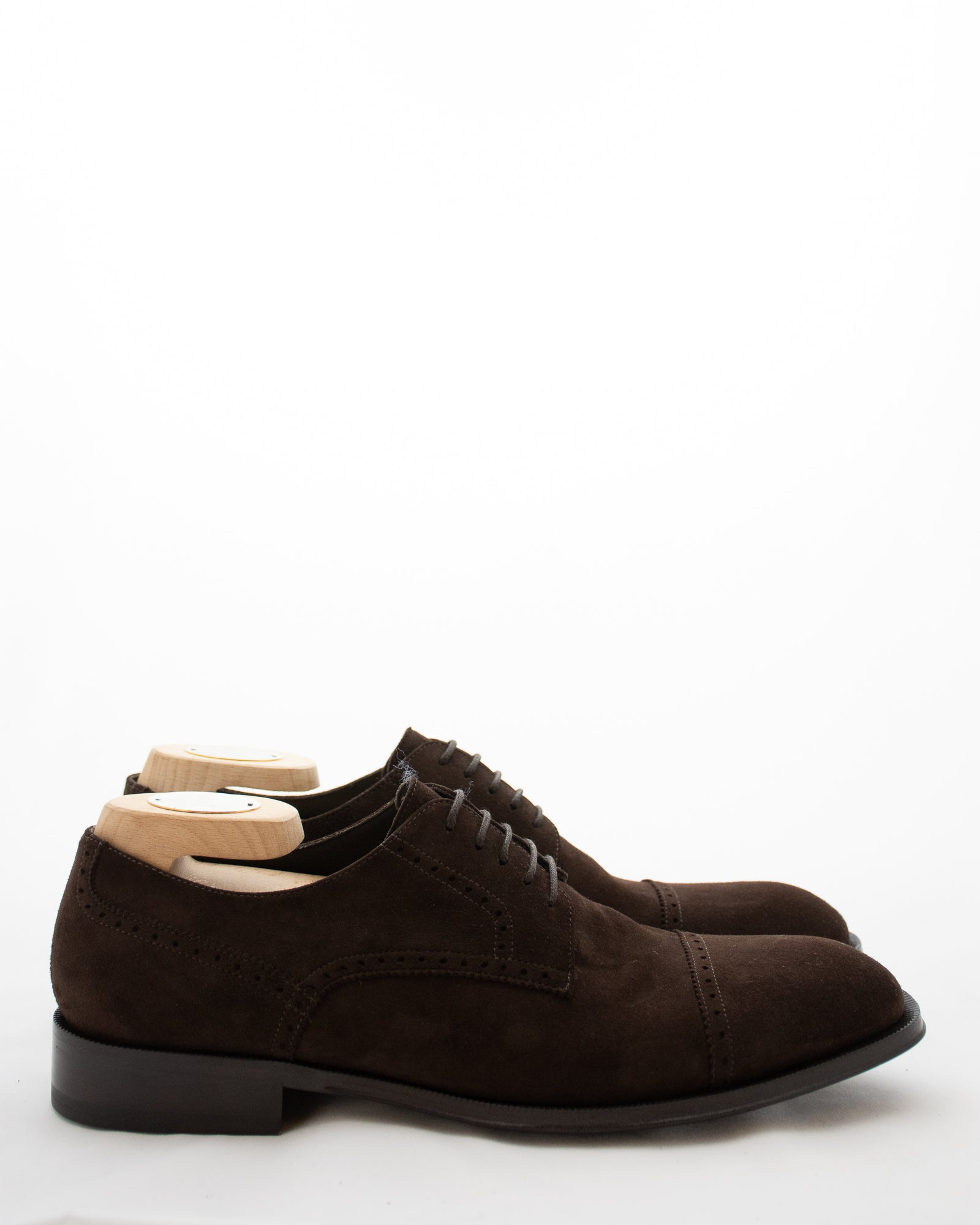 CORNELIANI Suede Brogue Lace Up