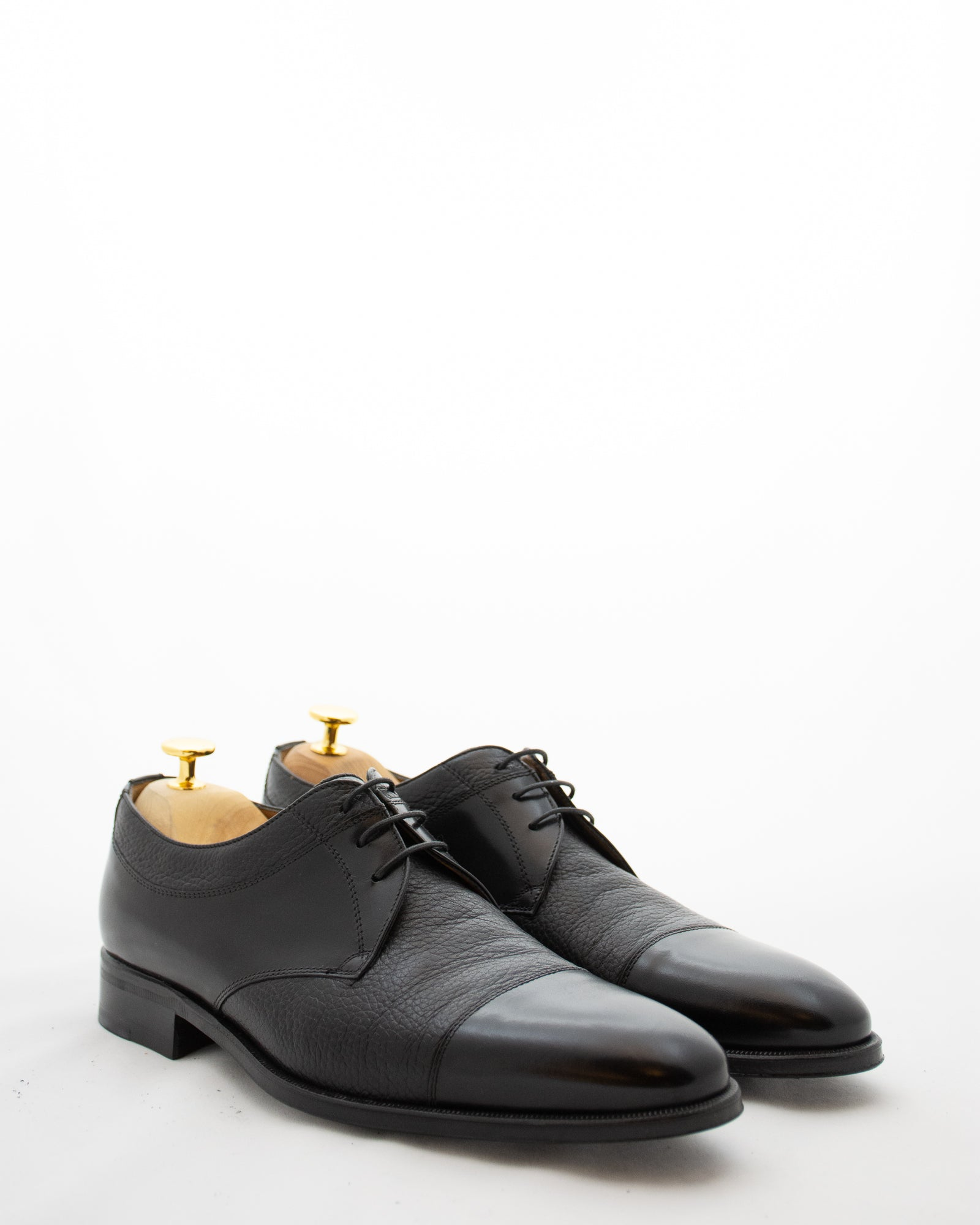 STEMAR Deer Skin Paneled Lace Up