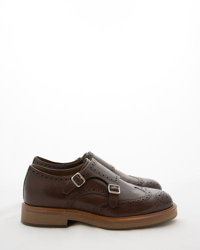 BRUNELLO CUCINELLI Double Monk Strap Brogue