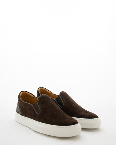 ISAIA Suede Slip On Sneaker