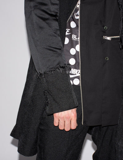CDG BLACK Spliced Overcoat
