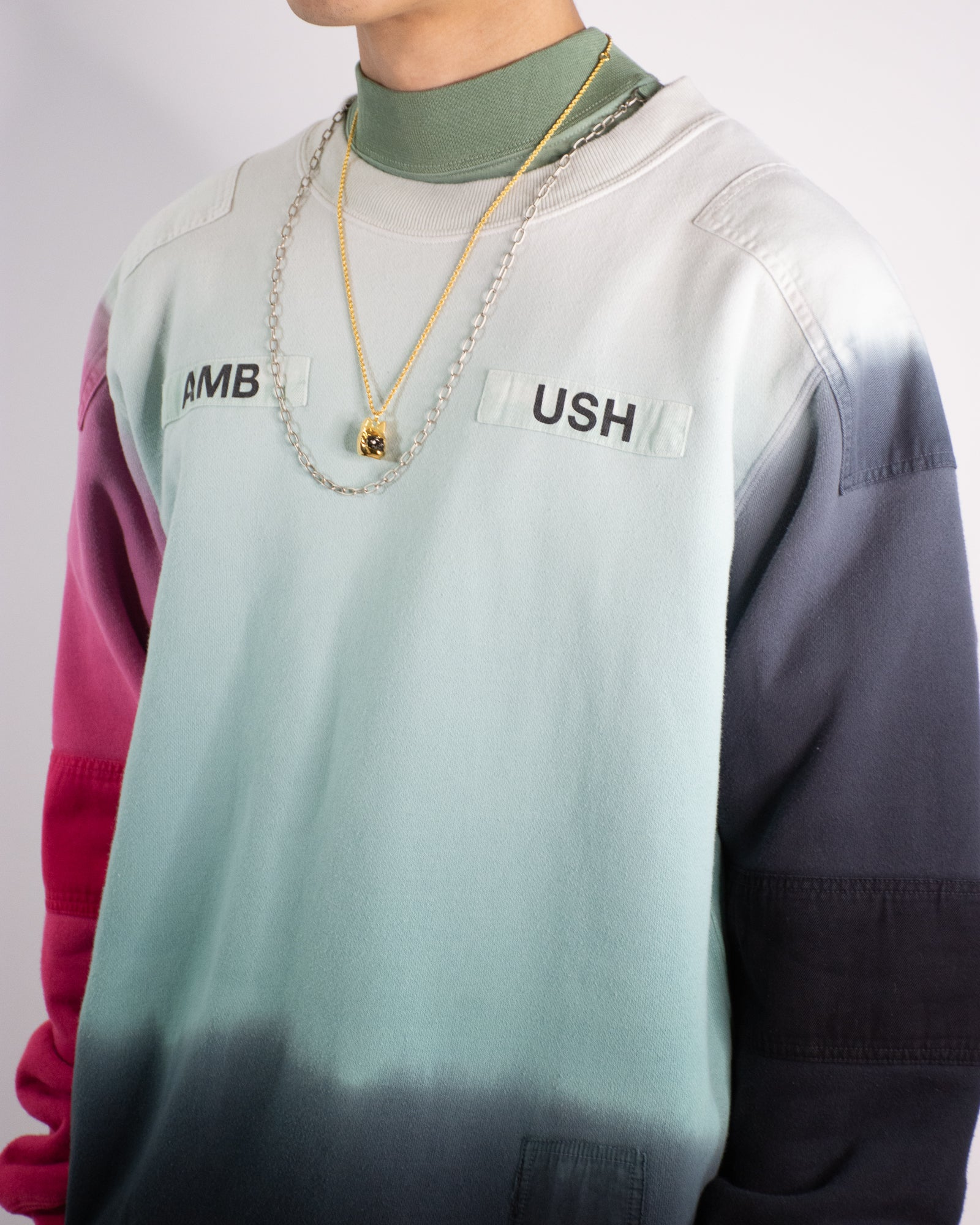 AMBUSH New Patchwork Gradient Sweatshirt