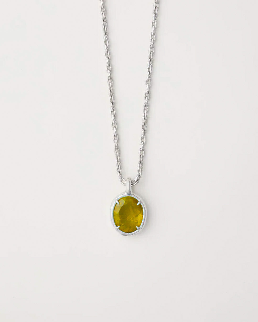 AMBUSH OVAL CUT STONE CHARM NECKLACE