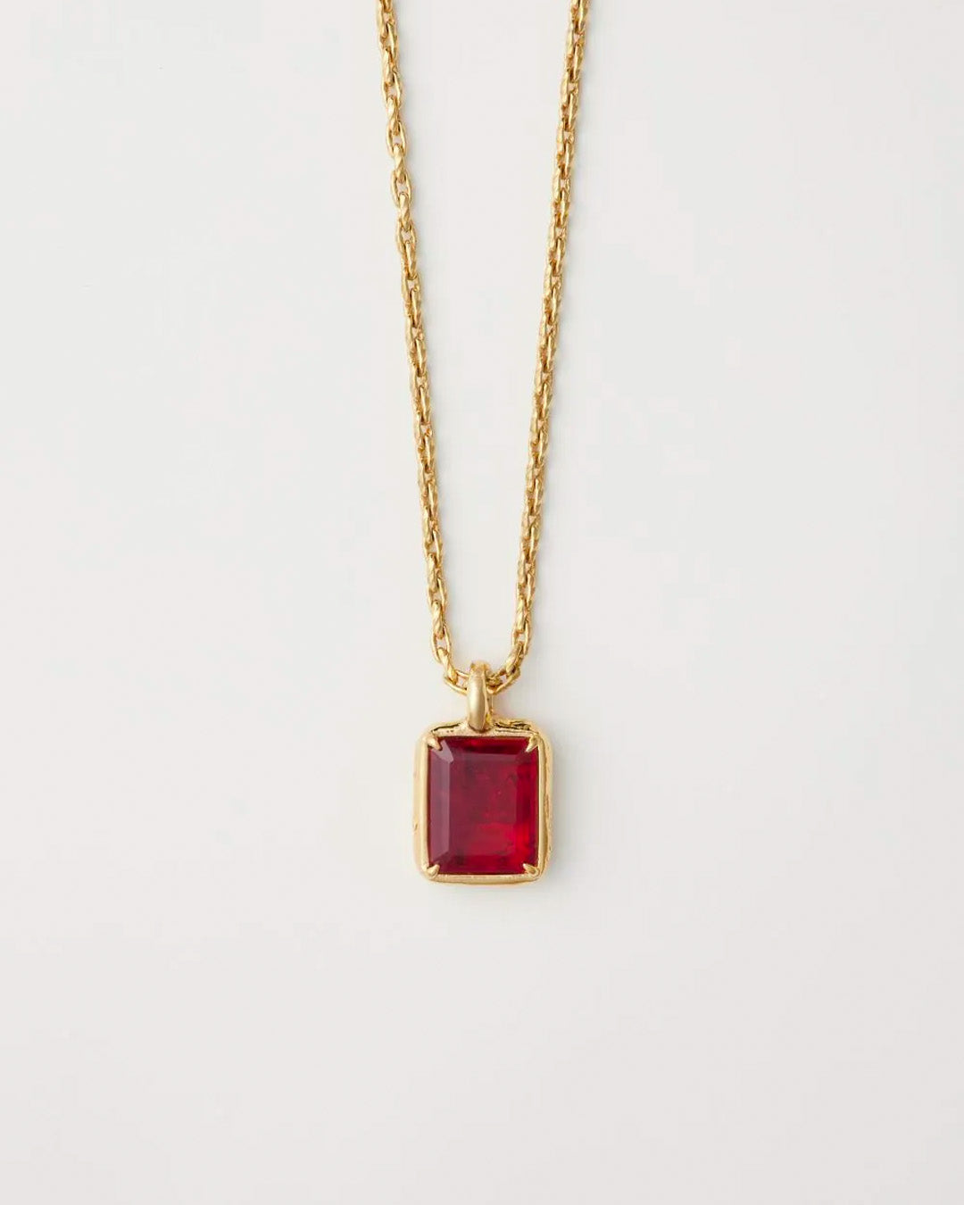 AMBUSH SQUARE CUT STONE CHARM NECKLACE