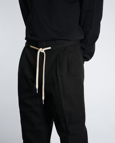 AMI CORD WAIST PLEATED TROUSER