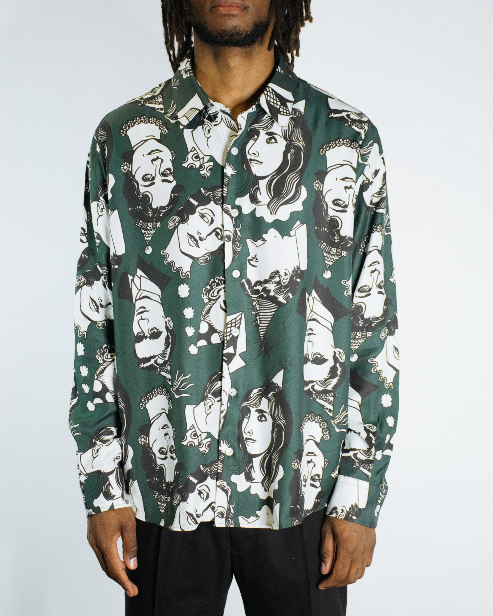 AMI CELEBRATION PRINT TWILL SHIRT