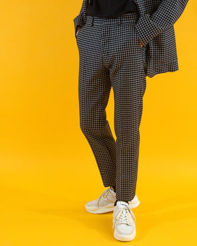 AMI Cigarette Check Trouser