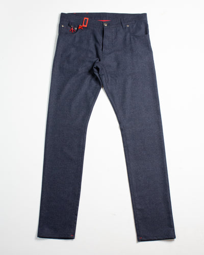 ISAIA Button Fly 5 Pocket Flannel Jean