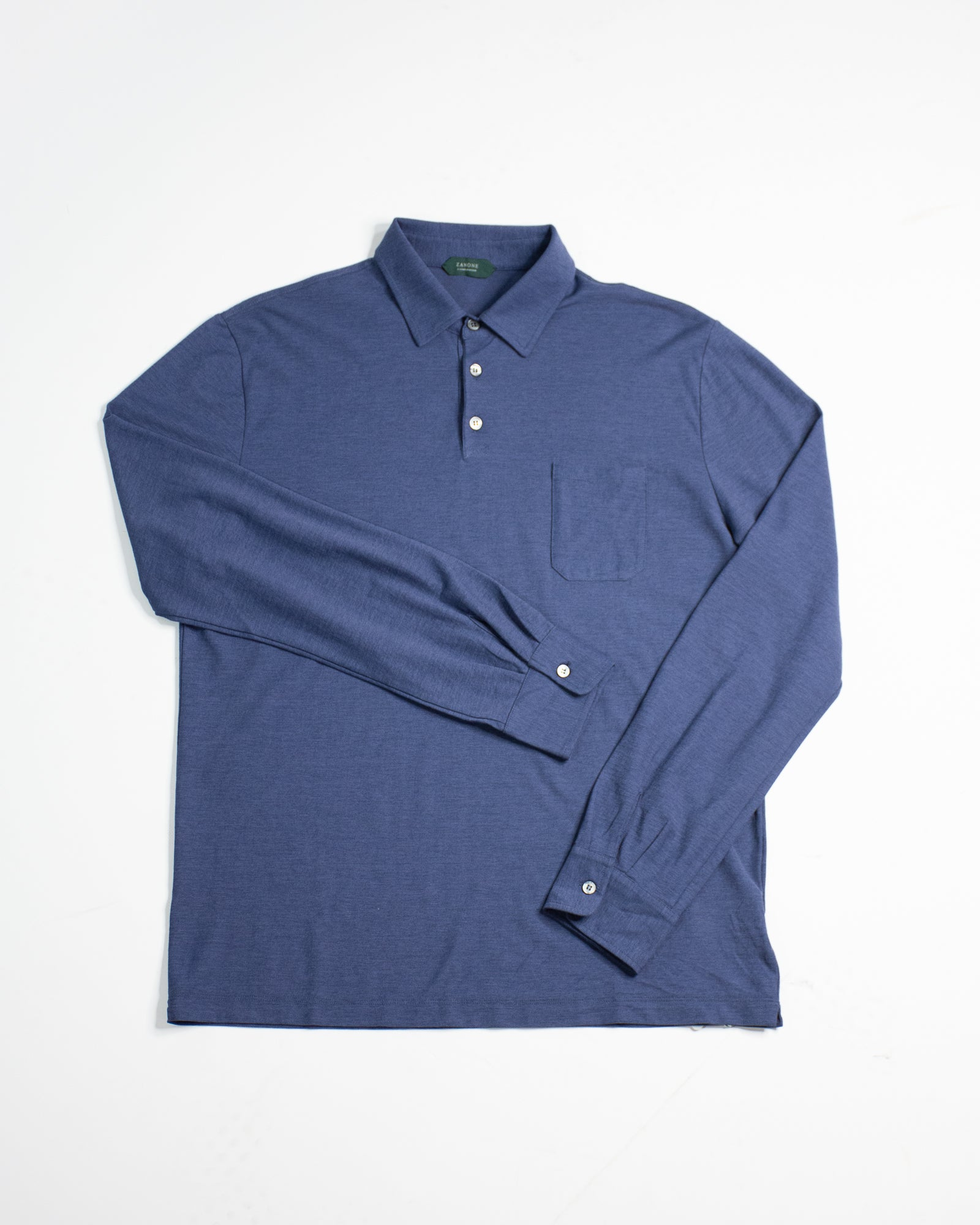 SLOWEAR Long Sleeve Polo Top