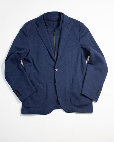 CORNELIANI ID Jersey Sports Jacket with Removable Vest