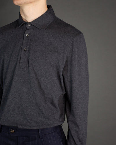 BRUNELLO CUCINELLI Long Sleeve Knit Polo