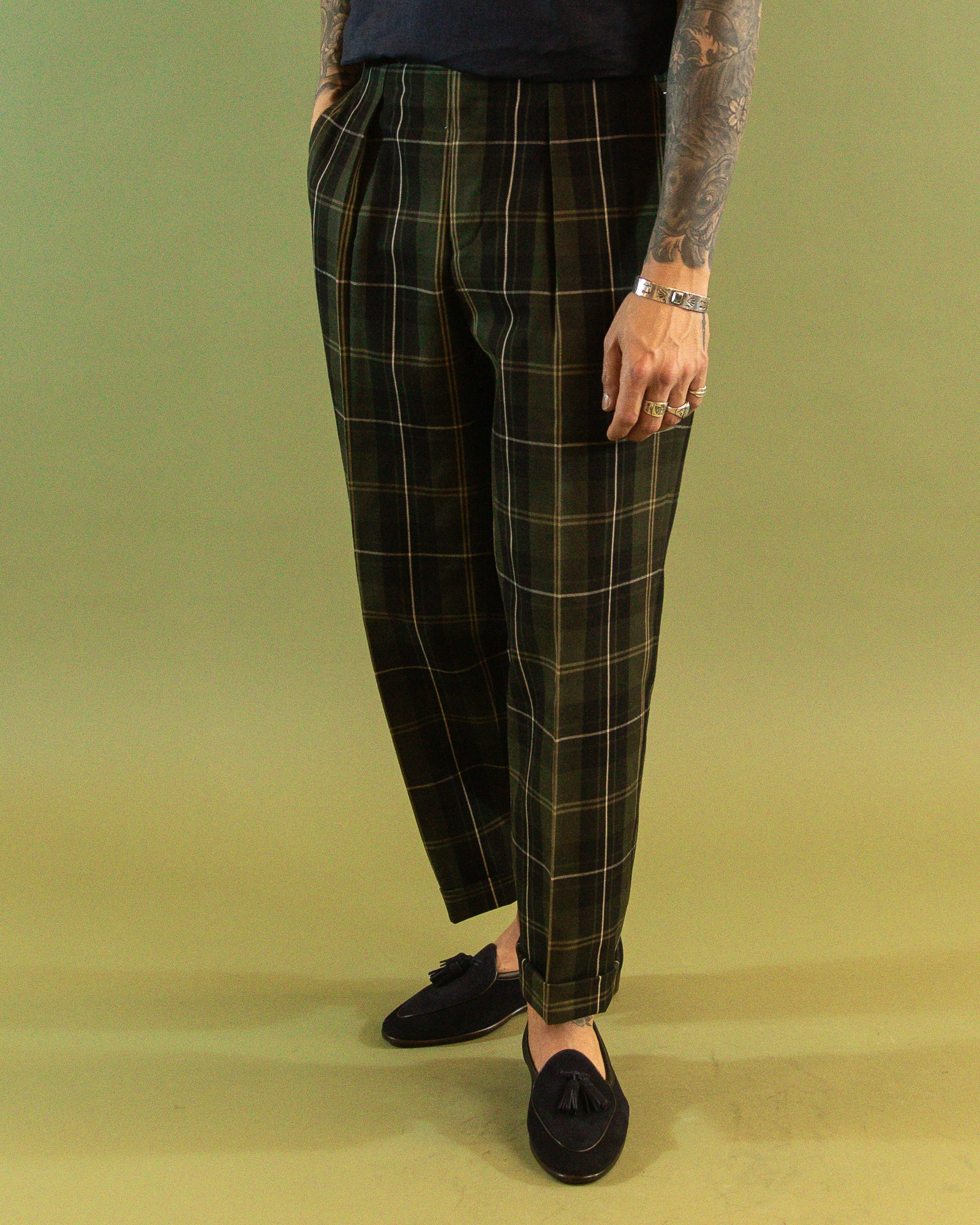CAMOSHITA Check Trouser
