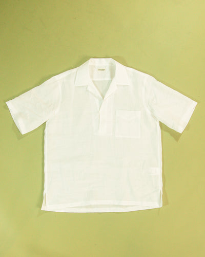 CAMOSHITA Linen Skipper Collar Polo