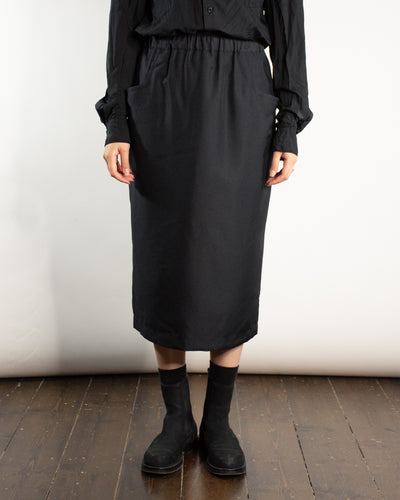 CDG BLACK Gathered A-Line Skirt