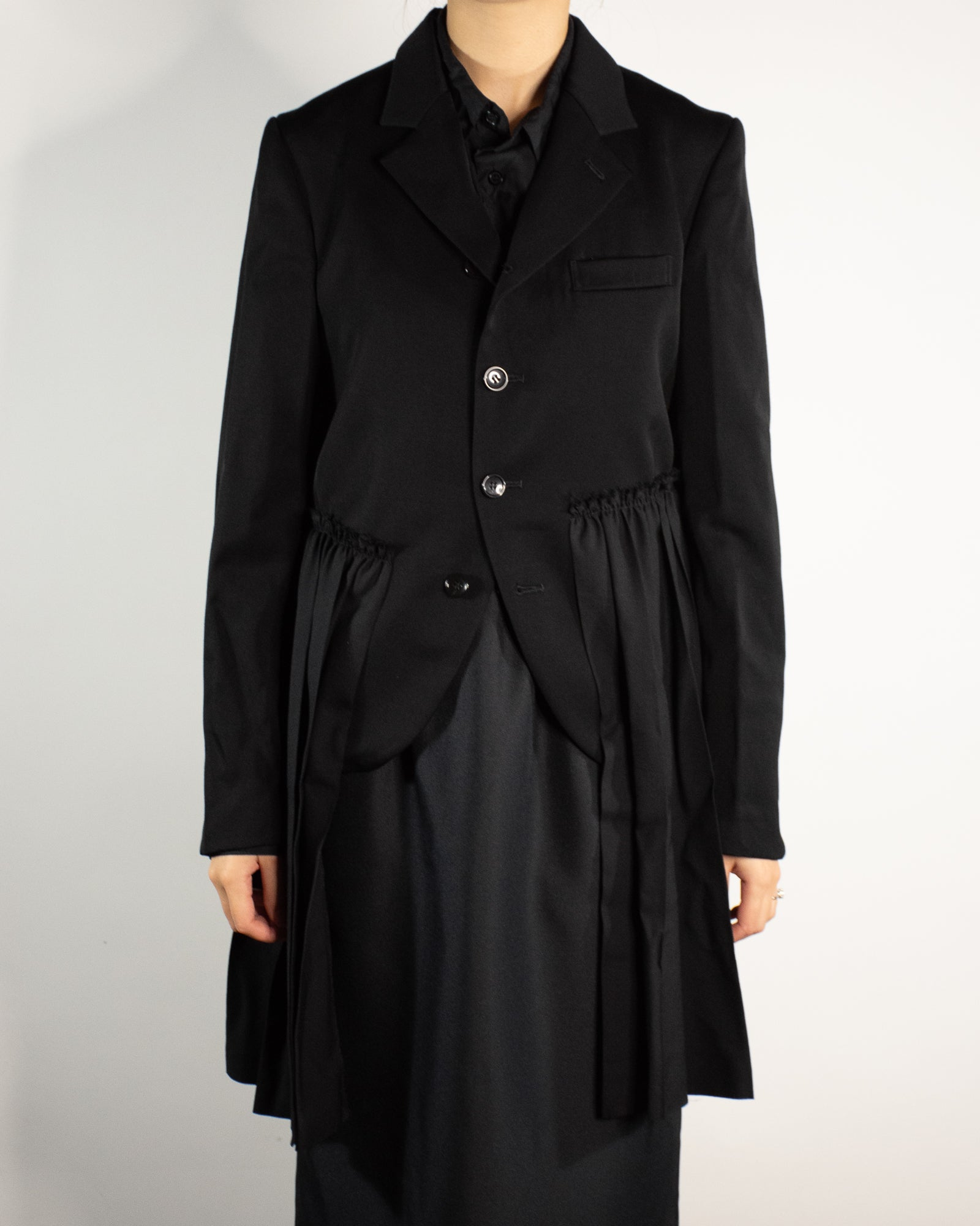 CDG BLACK Tailored Jacket with Attached Pleated Skirt