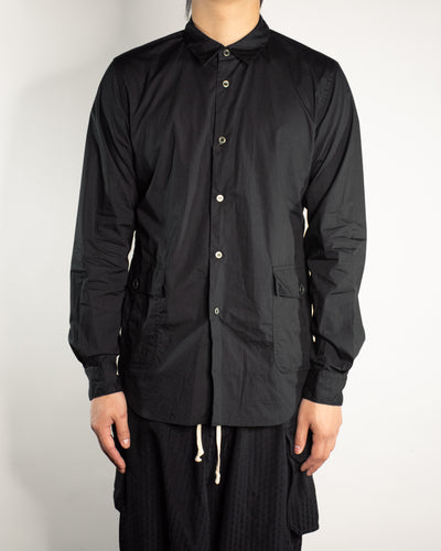 CDG BLACK Patch Hem Pocket Shirt
