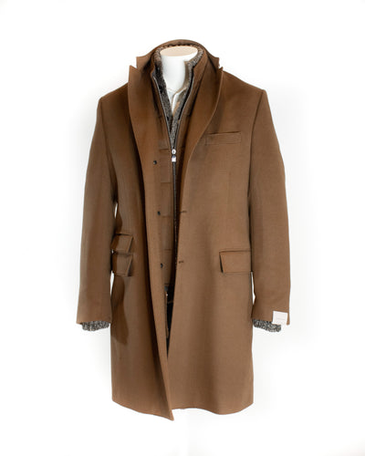CORNELIANI SINGLE BREASTED OVERCOAT