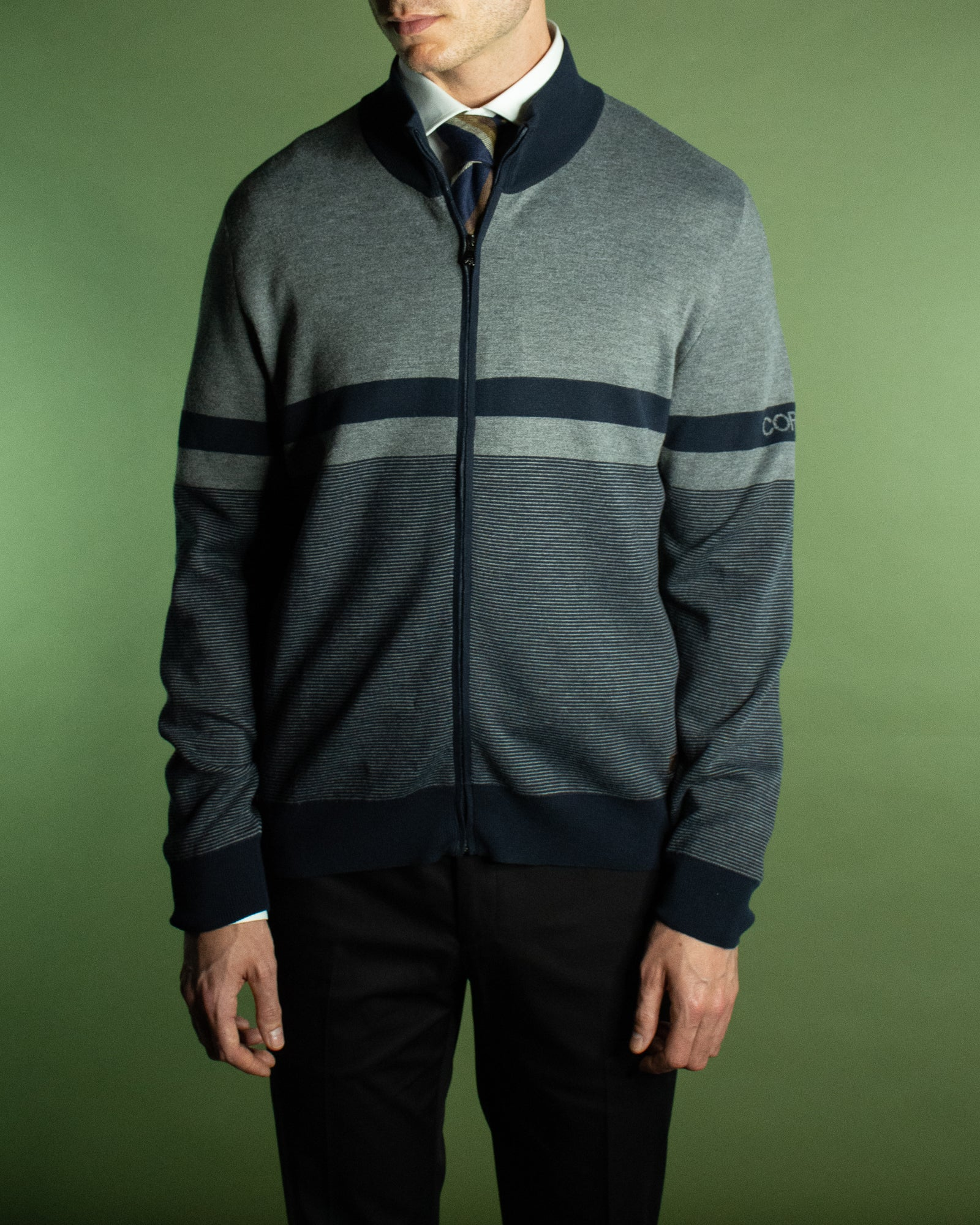 CORNELIANI LEISURE ZIP CARDIGAN